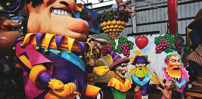 Mardi Gras World Float