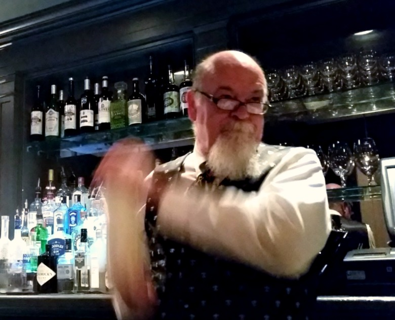 Paul shakes it up a Ramos Gin Fizz at Broussards