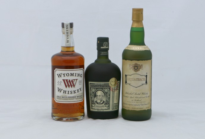 Wyoming Whiskey, Rum Diplomático, Usquabach Scotch