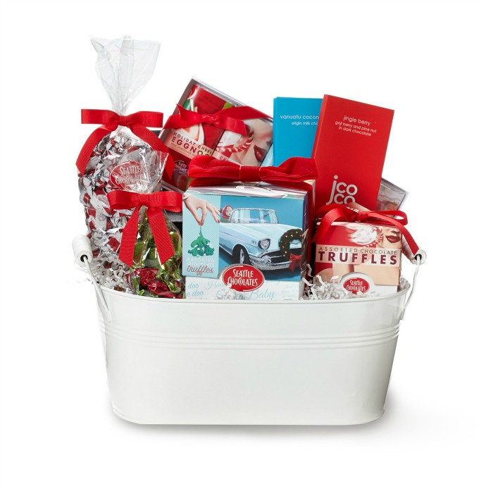 Santa Baby Gift Basket- Seattle Chocolates