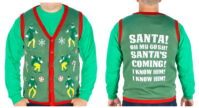 Holiday Gift Guide 2015: Elf Christmas Vest by Festified