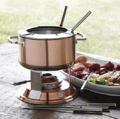 Holiday Gift Guide 2015:   3-in-1 Copper Fondue Set from TRUDEAU LUMINA