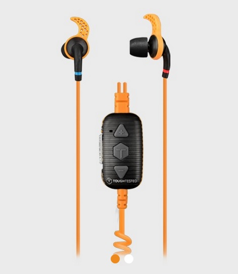 Marine earbuds from Toughtested for Keeping New Year's Resolutions